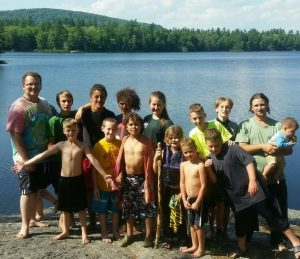 2016 campers after Badge Ceremony at Ellis Pond in Brooks, Maine.
