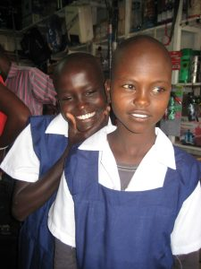 The purchase of required school uniforms allow these children to attend school.