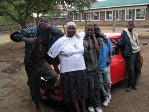 Mama Mwangi with her boys.