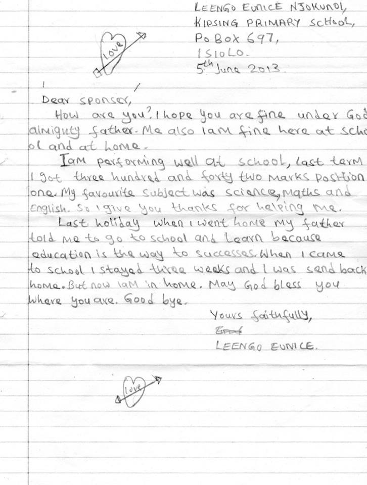 Leengo letter to sponsor